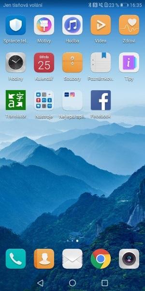 Huawei Mate 10 Pro, screenshot, aplikace