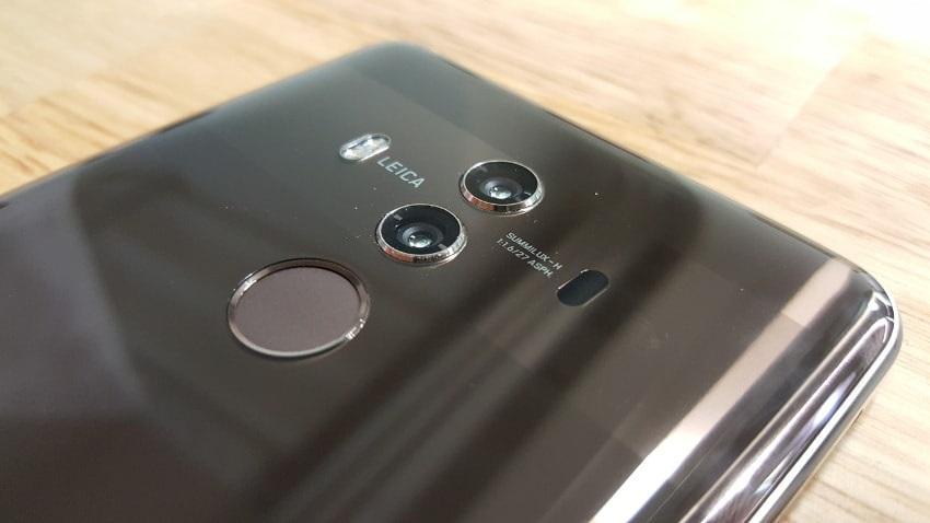 Huawei Mate 10 Pro, zadní strana, fotoaparát