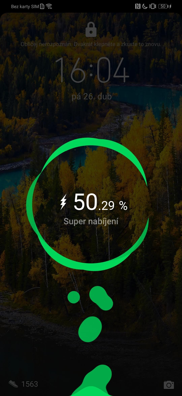 Huawei P30 Pro, recenze, baterie