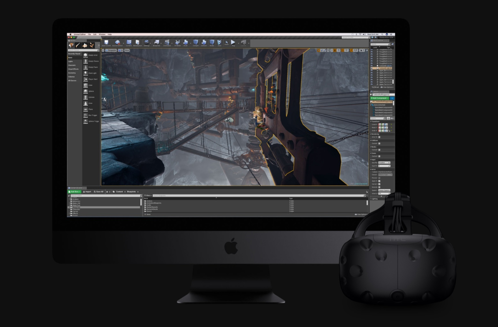 Apple iMac Pro; HTC Vive