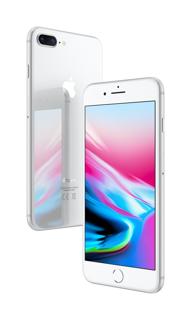 iPhone 8 Plus; stříbrná