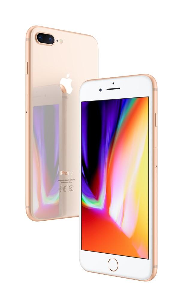 iPhone 8 Plus; zlatá