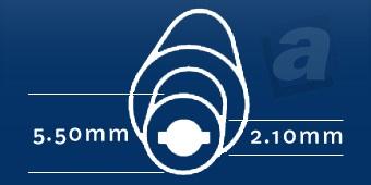 Konektor Acer, Liteon, Nec, Gateway; 5,50/2,10 mm
