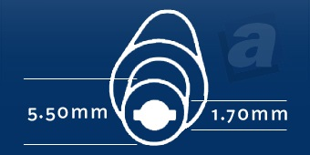 Konektor Acer; 5,50/1,70 mm