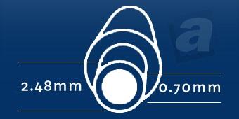 Konektor Asus EEE; 2,48/0,70 mm