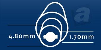 Konektor HP/Compaq, Delta, Asus, Nec, HP Elitebook, Envy Spectre XT series; 4,80/1,70 mm