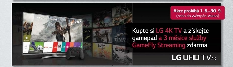 LG akce - gamepad a gamefly