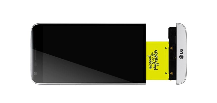 LG G5 s odpojenou spodní částí
