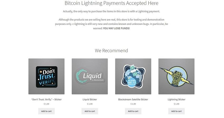 lightning network, bitcoin, služby