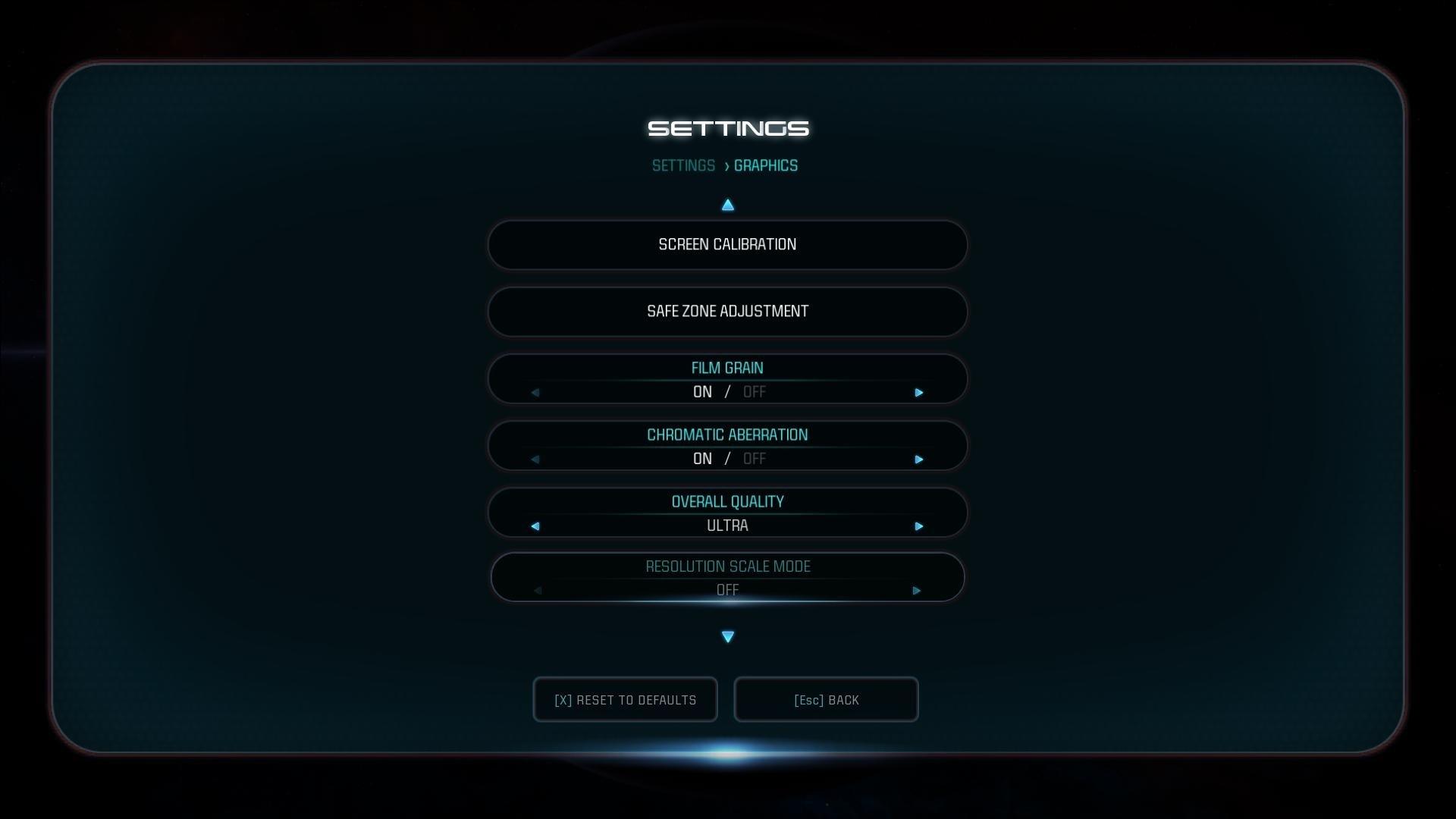 Mass Effect: Andromeda; nastavení grafiky