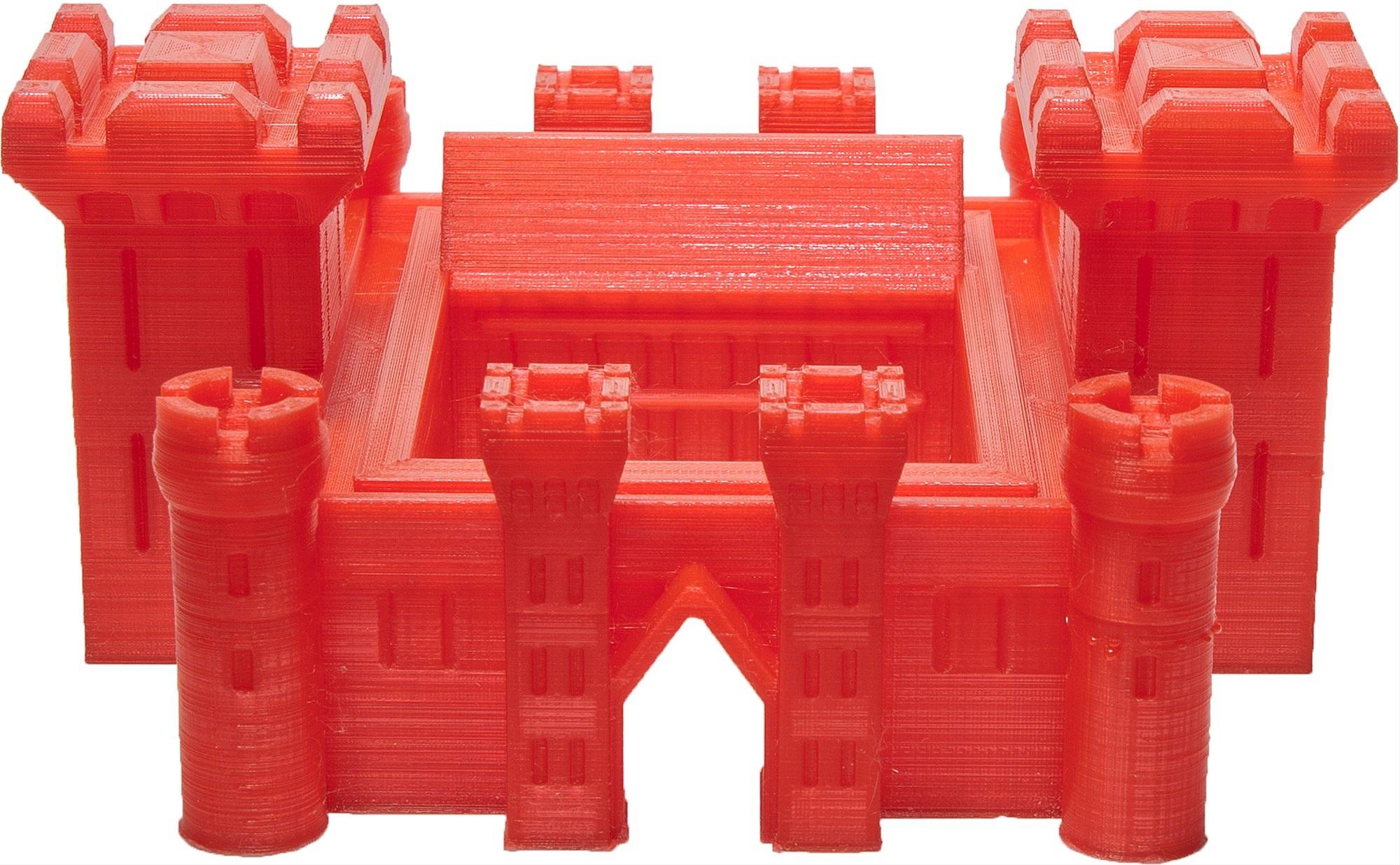 červený hrad vytisknutý ve 3D tiskárně 3D Factories EasyMaker