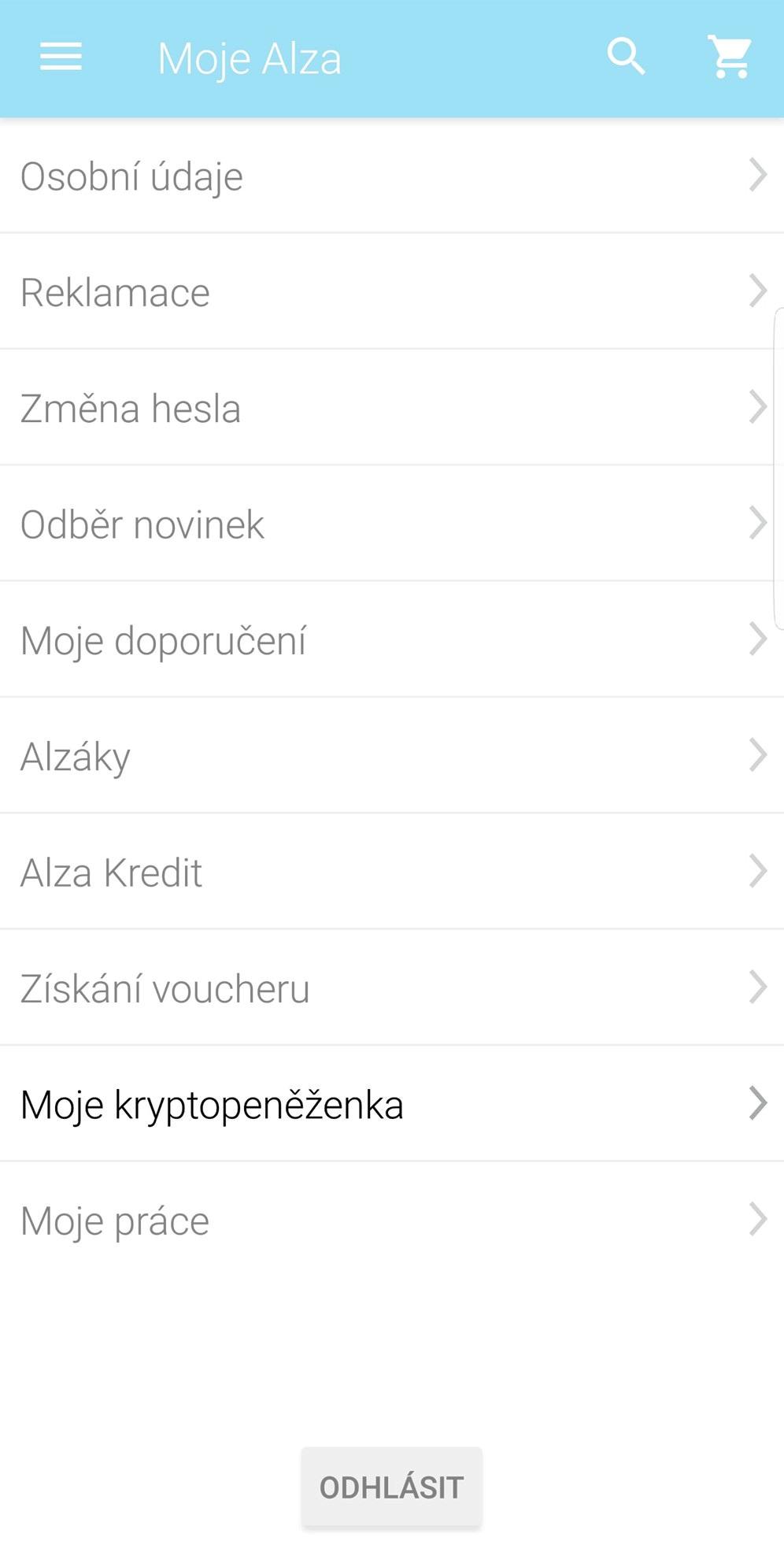 Moje kryptopeněženka; Aplikace