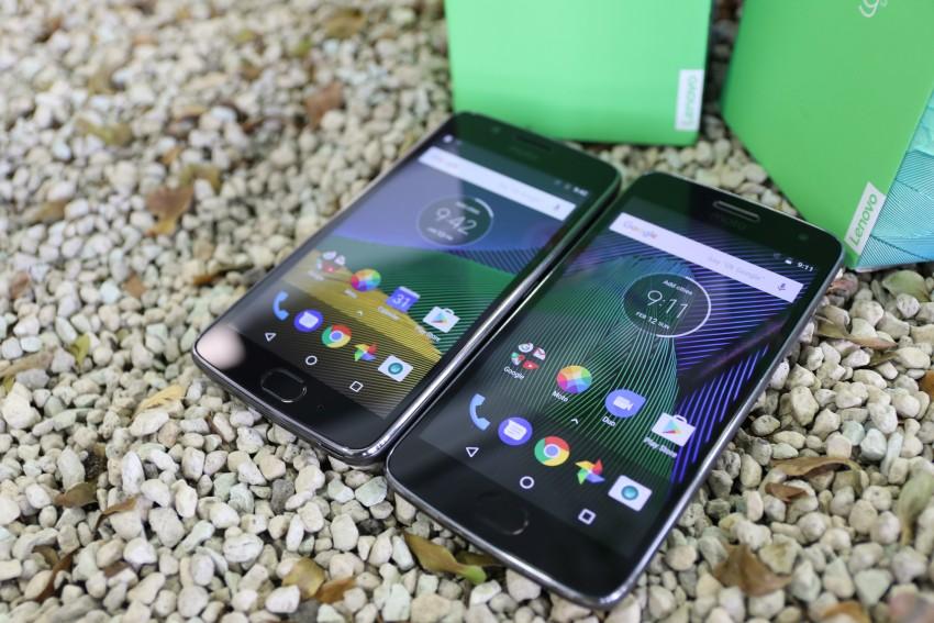 Moto G5 a Moto G5 Plus zepředu