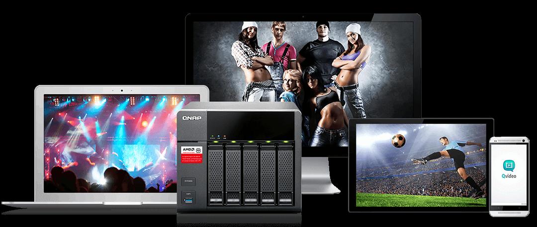 QNAP NAS - streamování přes DLNA