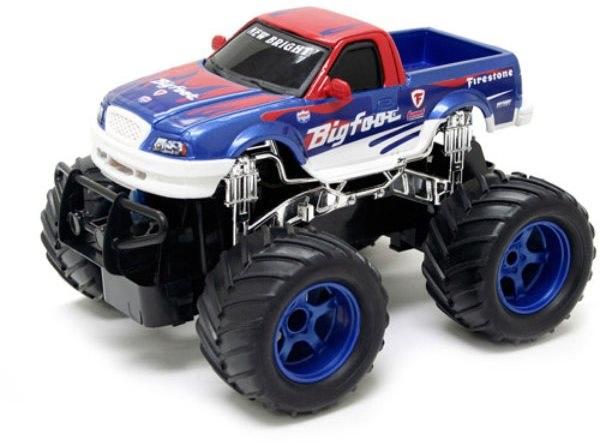 dárek pro muže; New Bright RC monster truck FF 1:24, modrý/červený