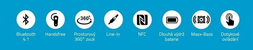 Niceboy Soundair Parametry; funkce