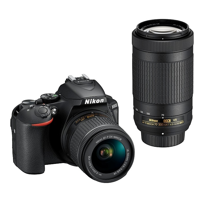 Nikon D5600 - set se dvěma objektivy s krokovými motorky