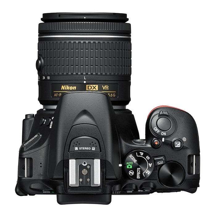 Nikon D5600 - horní strana fotoaparátu