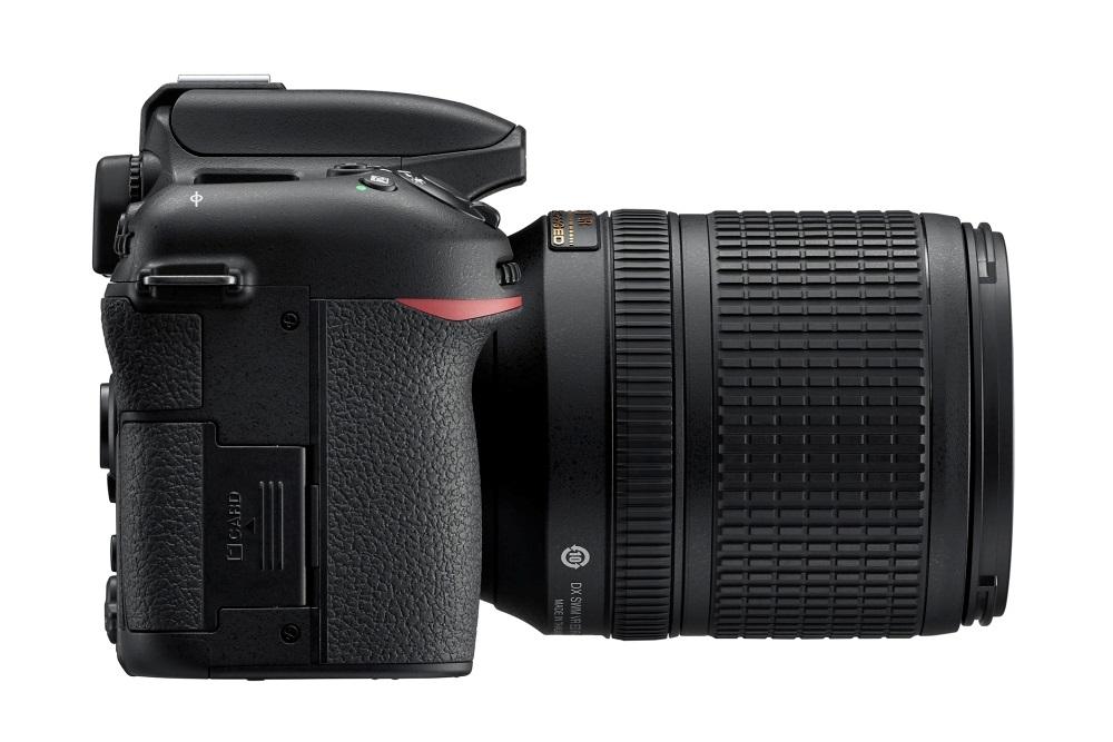 Nikon D7500, úchopová část