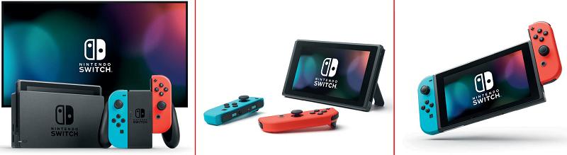 Nintendo Switch; tři herní módy