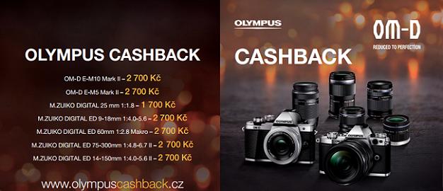 Nakupte v akci Olympus CashBack a získejte zpět část peněz