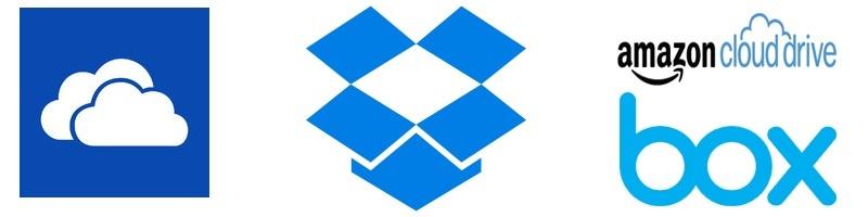 Dropbox; OneDrive; Box; cloudová úložiště