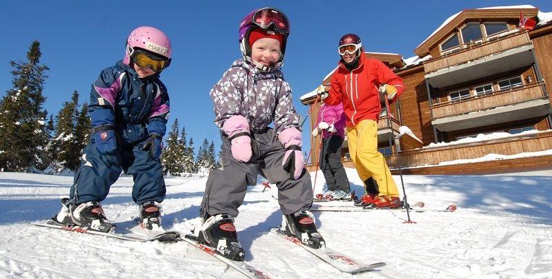 Rodina na lyžích