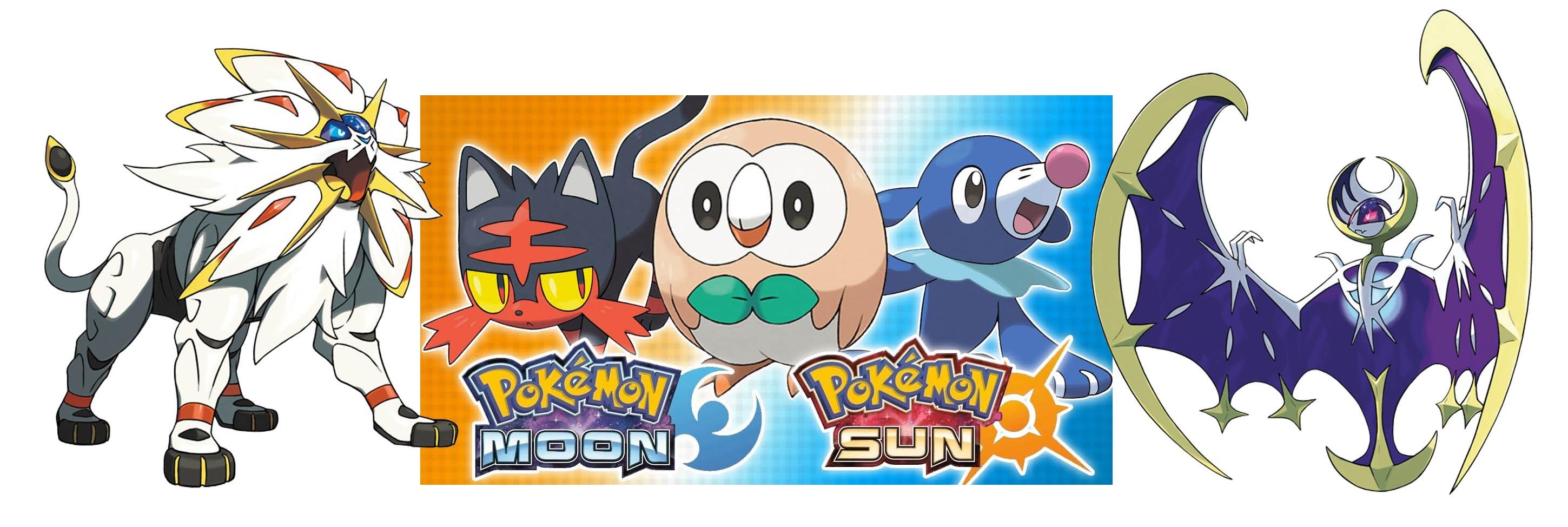 Rowlet; Litten; Popplio; Pokémon Moon and Sun