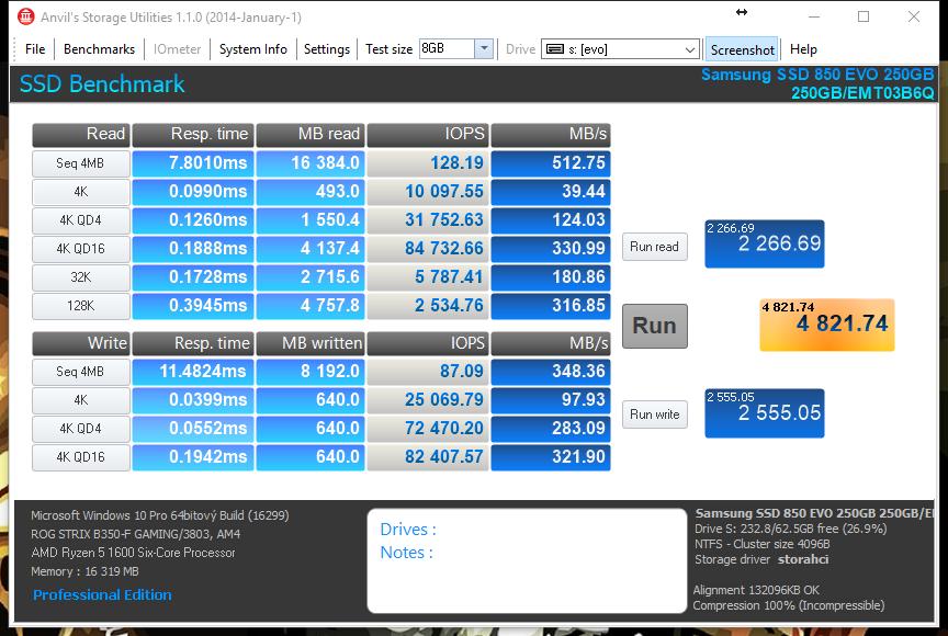 HyperX Savage - Anvil's Intel Storage Utilities
