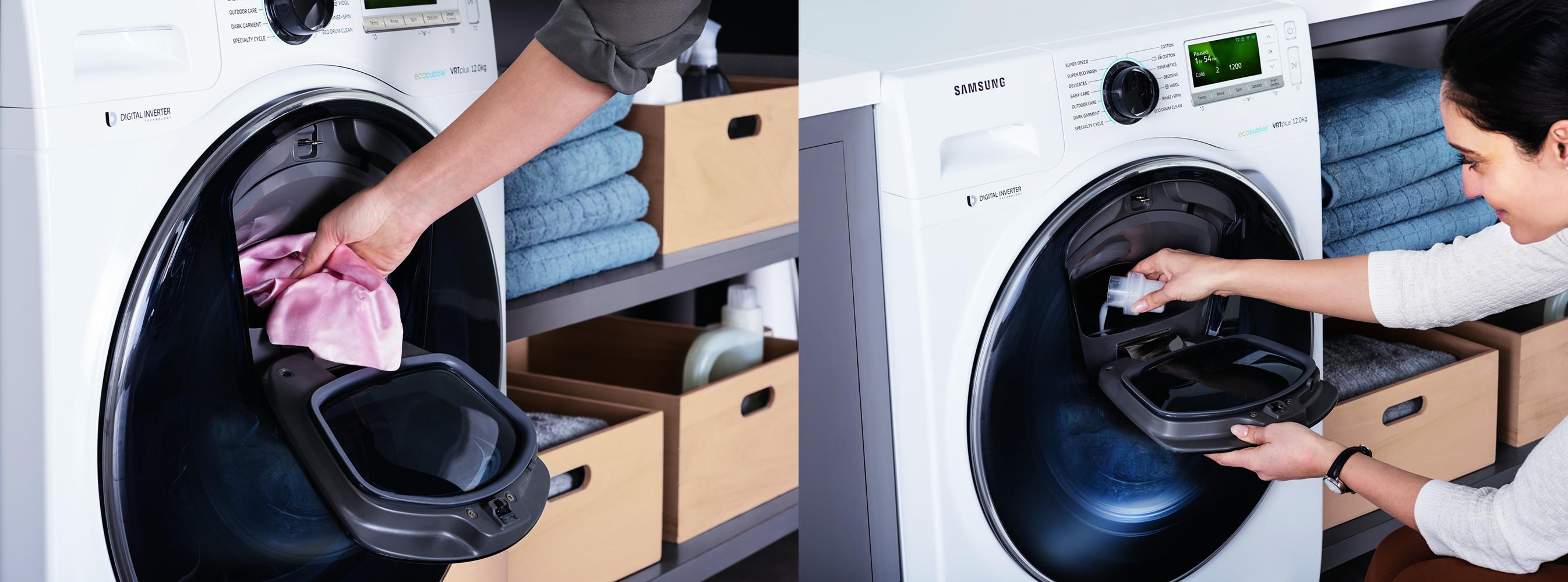 Samsung AddWash - revoluční pračky s dvojitými dvířky