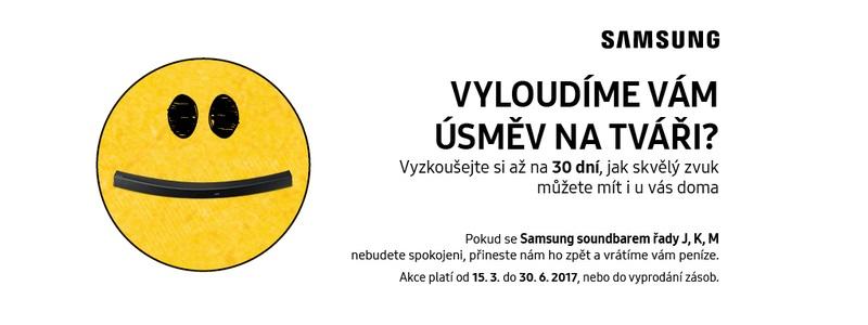 Kup soundbar Samsung a získej 30denní záruku na vrácení peněz