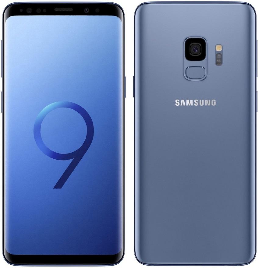 Samsung Galaxy S9; modrý