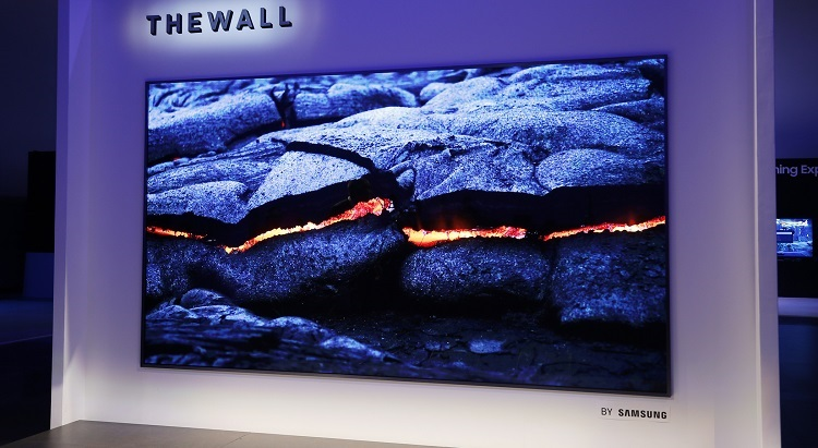 Samsung microLED TV The Wall; CES 2018