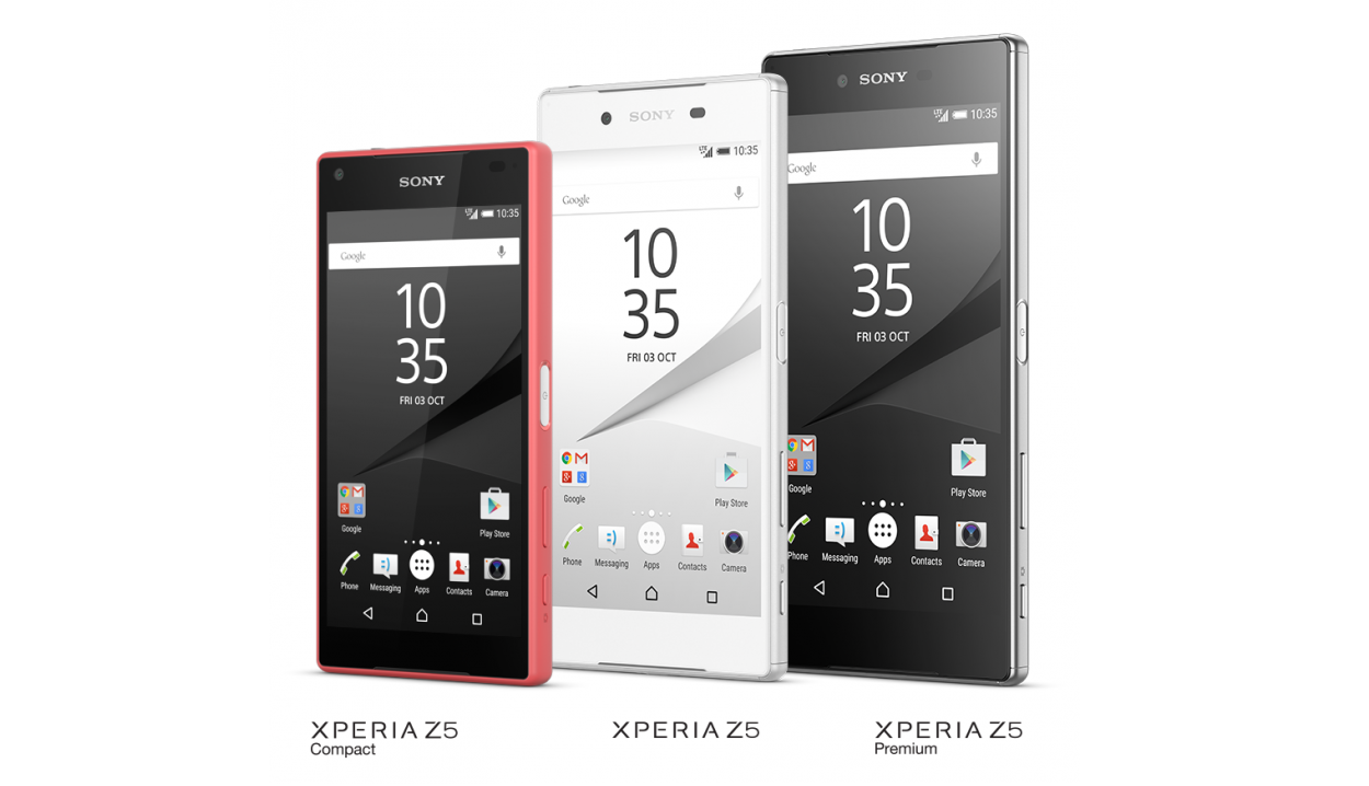 Sony Xperia Z5, Compact, Premium - mobilní telefony