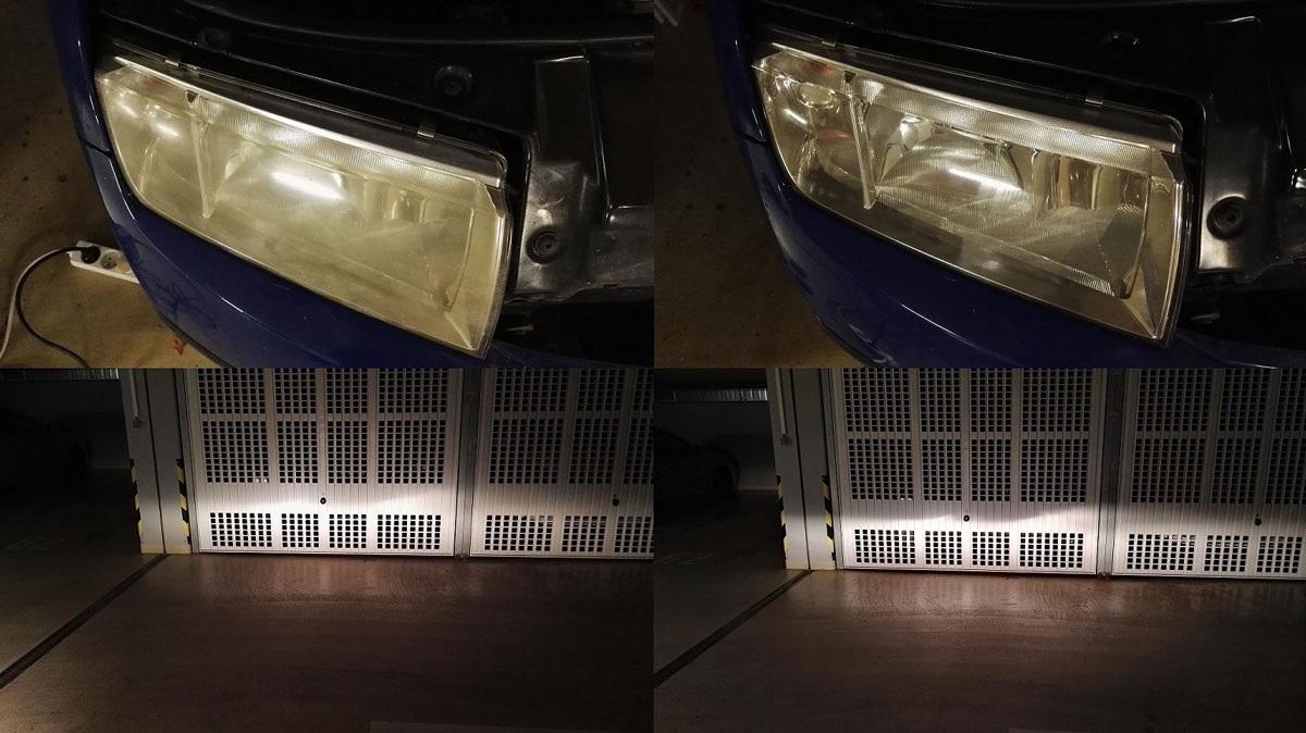 Renovace světlometů zažloutlé