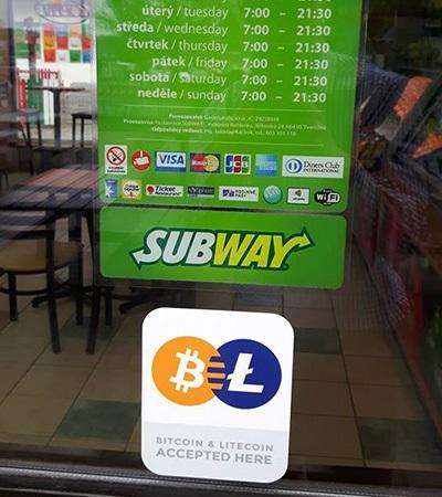 bitcoin, subway, Brno