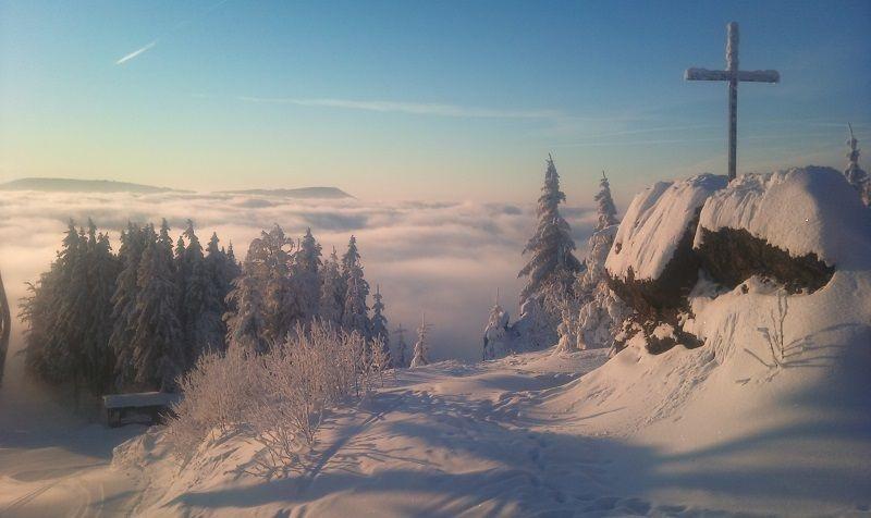 Šumava má v zimě úžasnou atmosféru