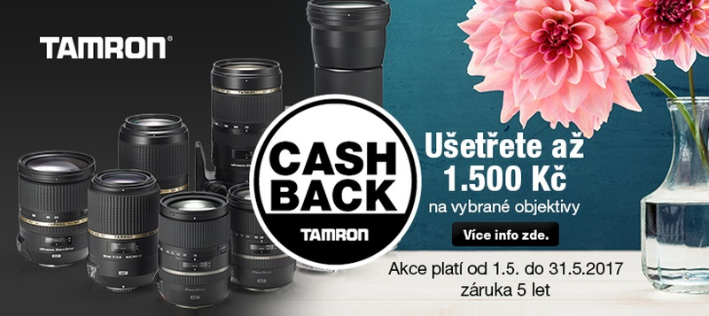 Tamron CashBack 2017 pro objektivy
