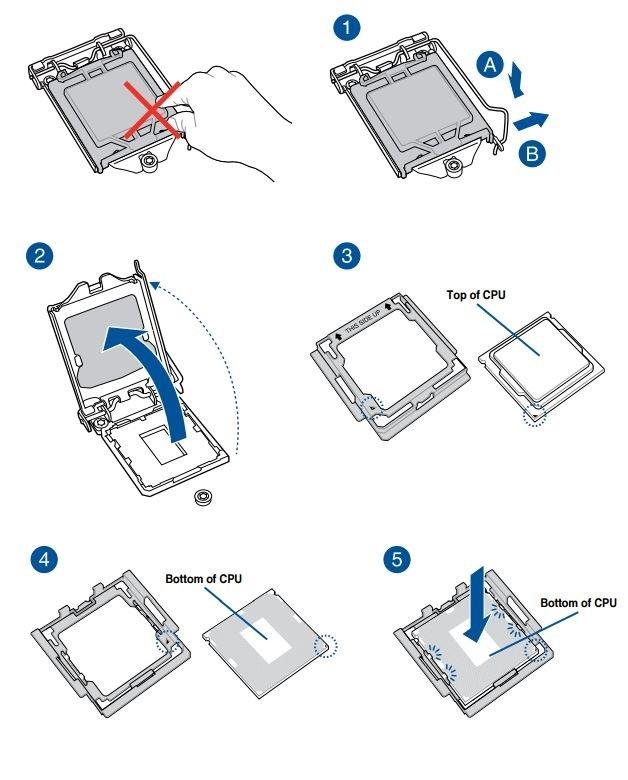 Jak postavit PC. Umístění procesoru Intel do patice základní desky
