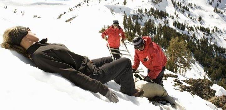 Úraz při lyžování