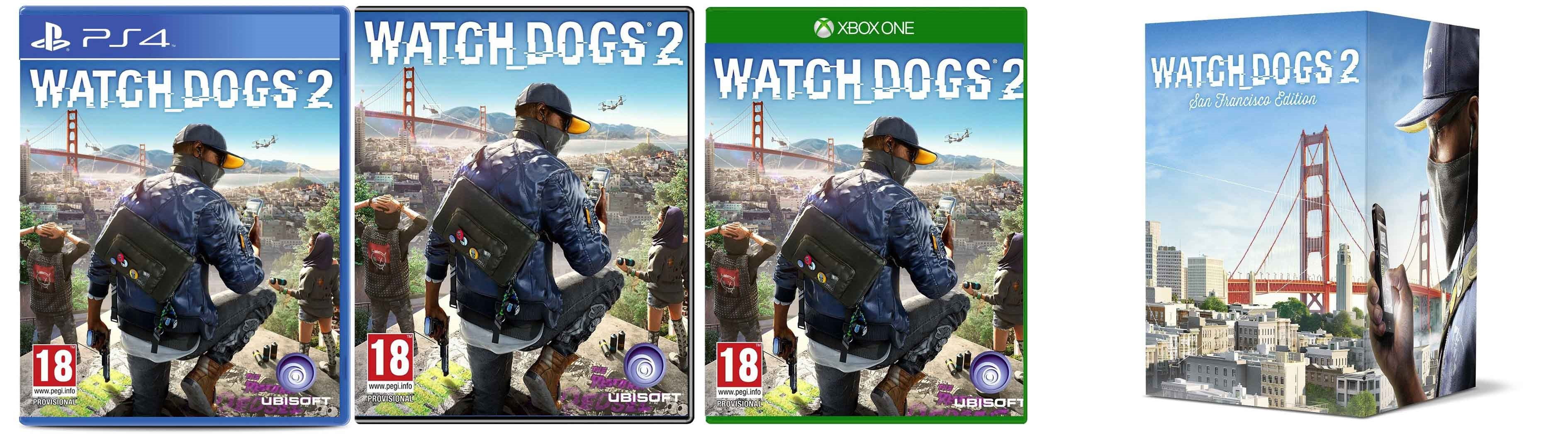 watch dogs 2; Play Station 4; PC; Xbox One; San Francisco Edition