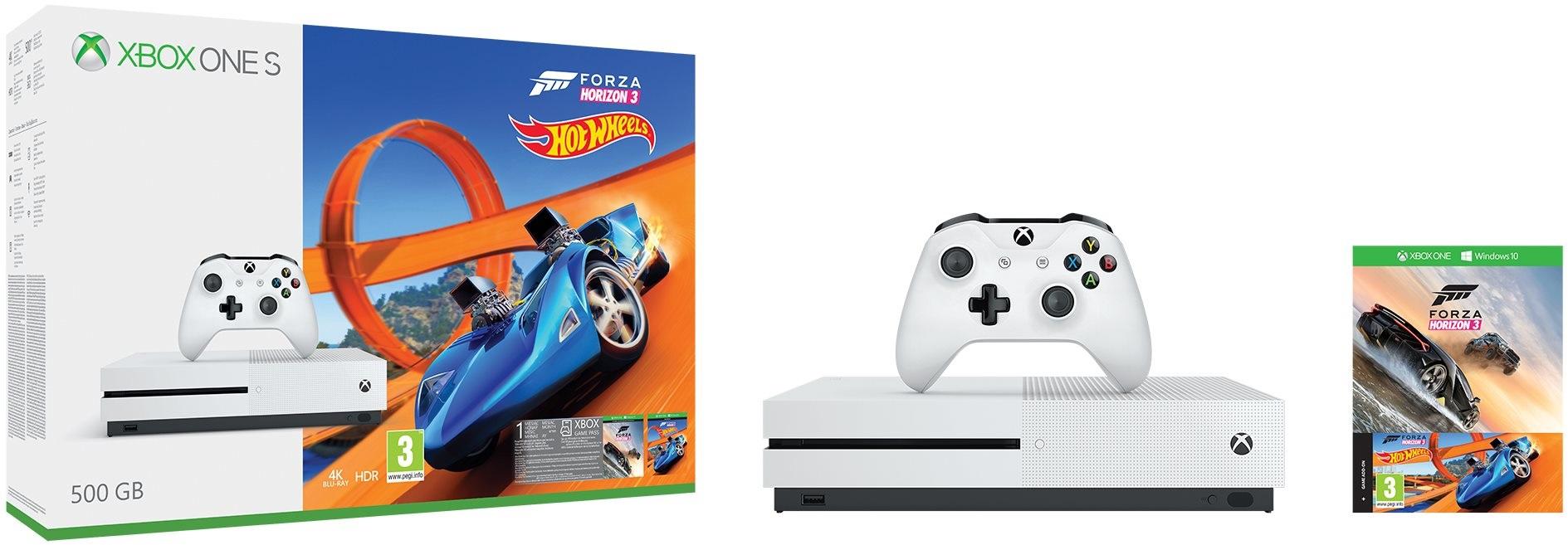 Xbox One S; Forza Horizon 3; šrotovné