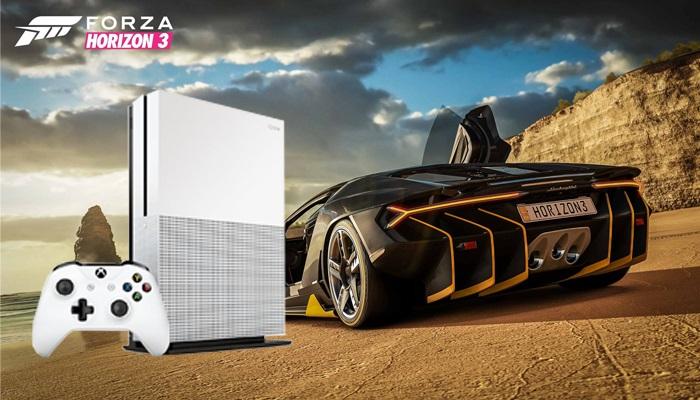 Xbox One S; forza horizon 3