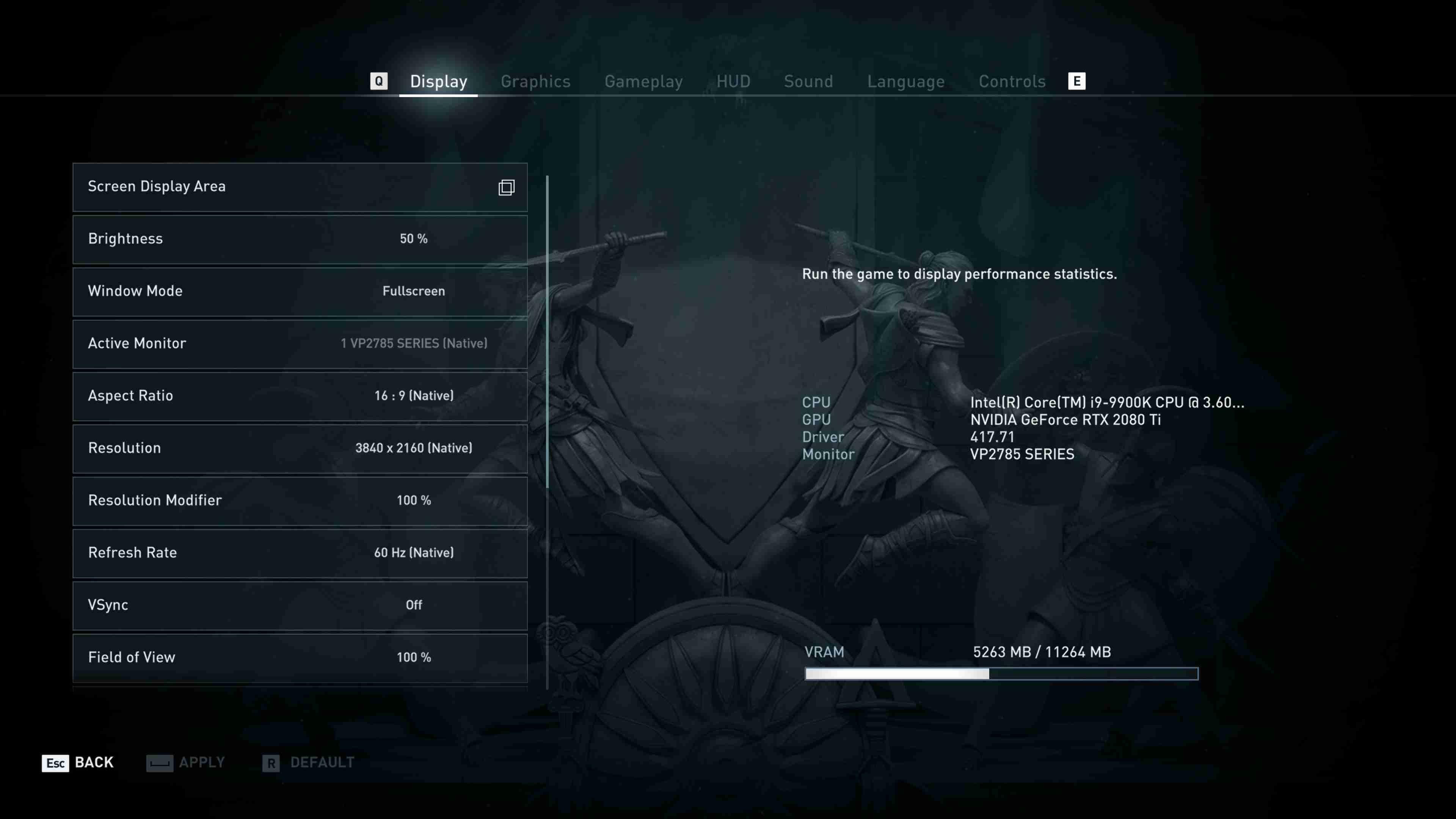 Assassin's Creed: Odyssey nastavení detailů