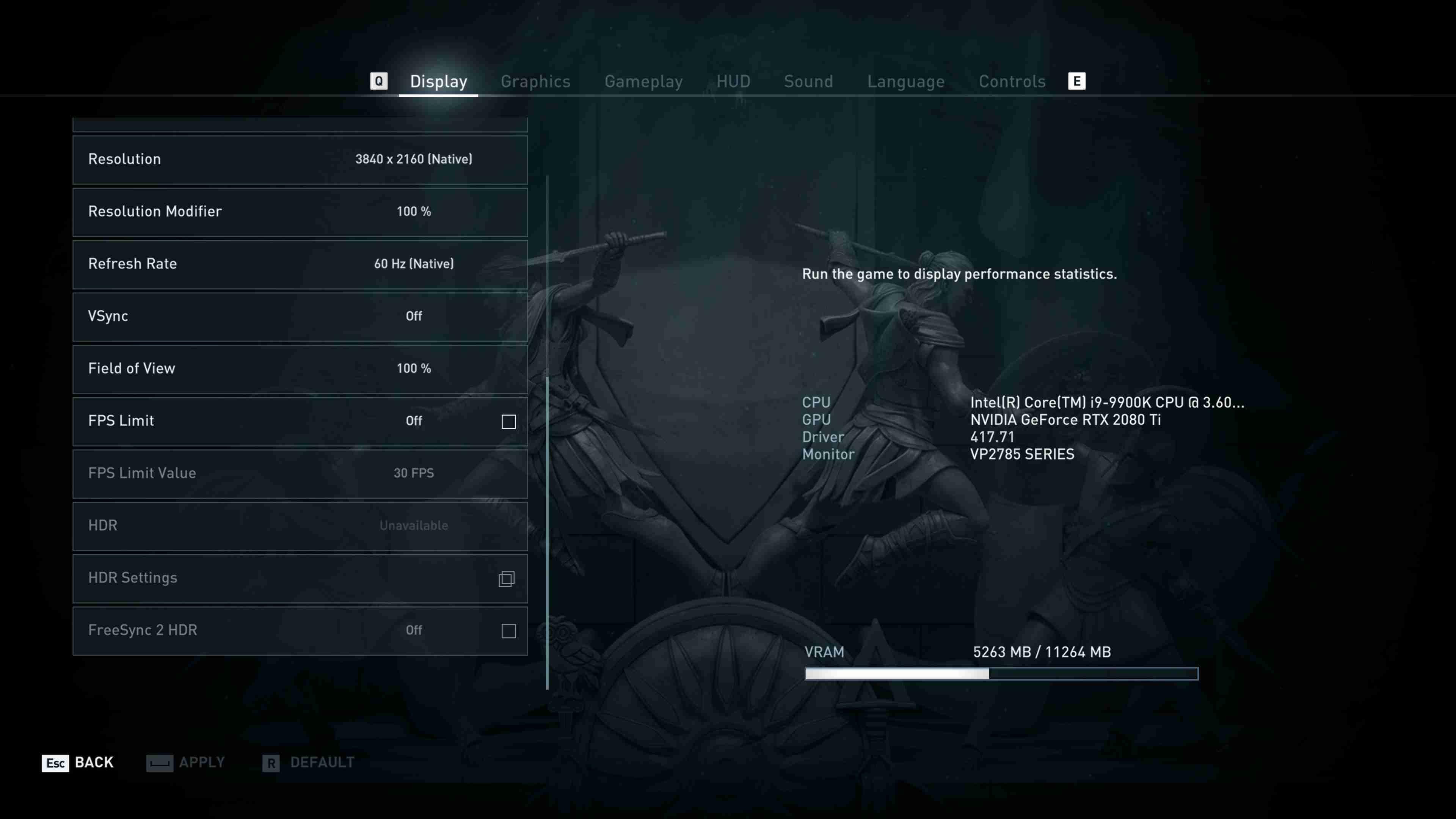 Assassin's Creed: Origins nastavení detailů