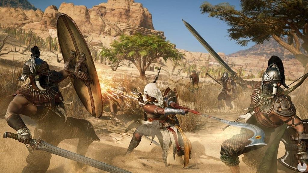 Assassin's Creed: Origins; combat play