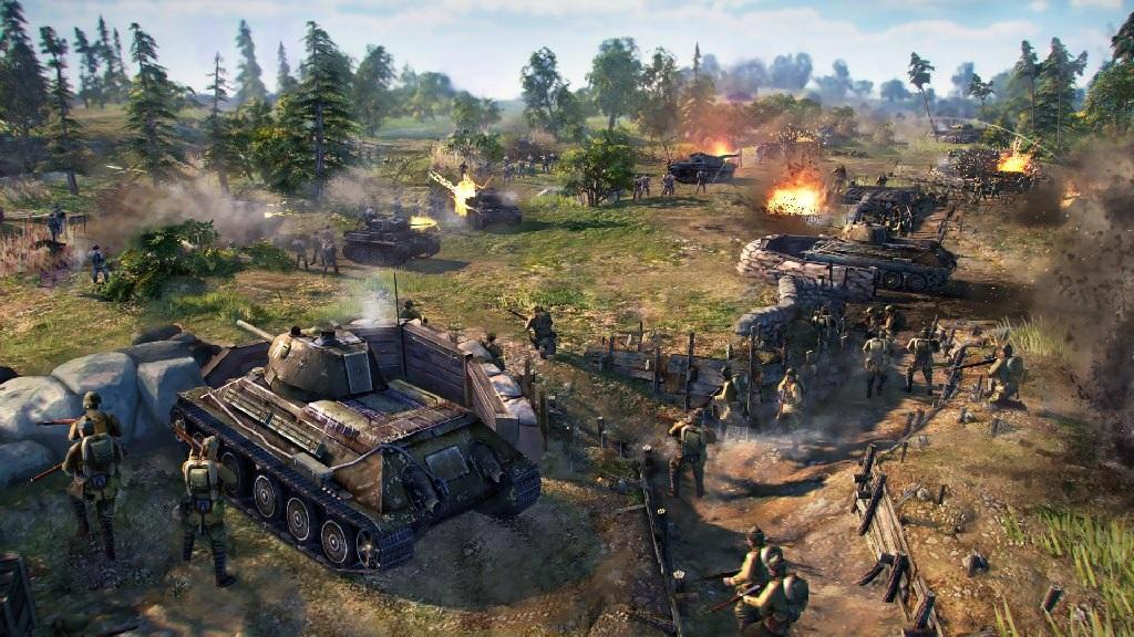 Blitzkrieg 3; Wallpaper: bitva, tanky, pěchota