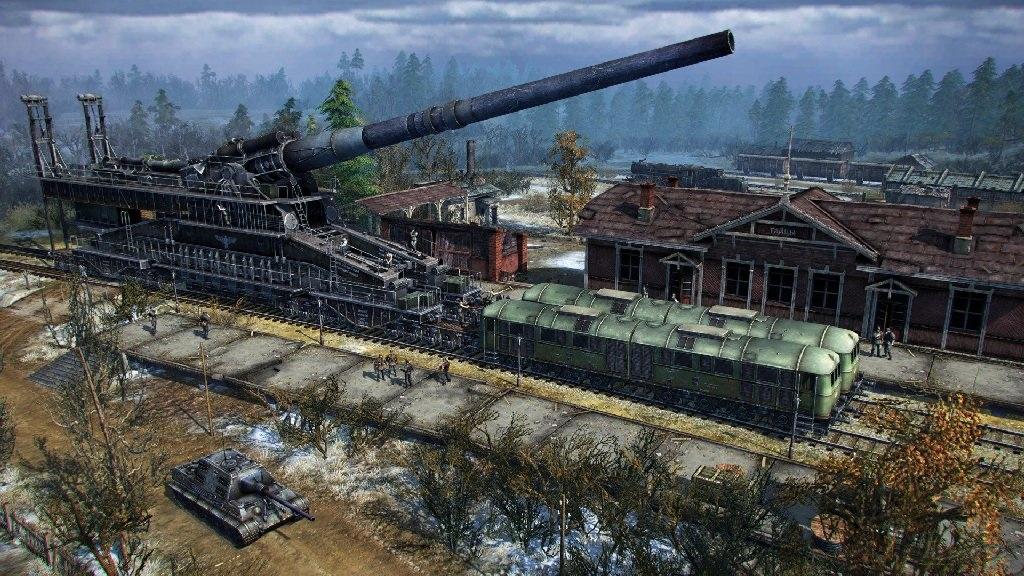 Blitzkrieg 3; Wallpaper: Artilérie na nádraží; Dora