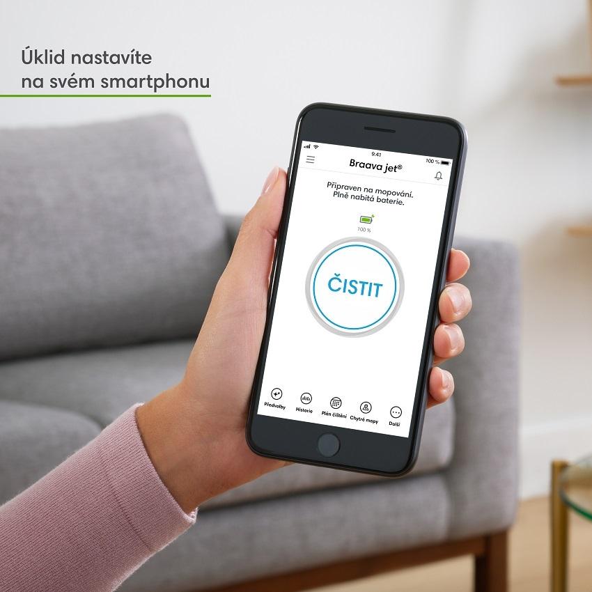 Mobilní aplikace iAdapt pro ovládání Braava Jet m6