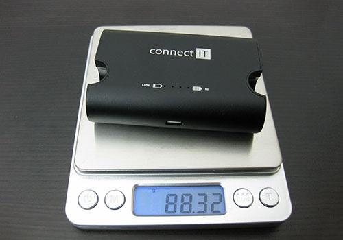 Connect IT True Wireless, powerbanka, hmotnost